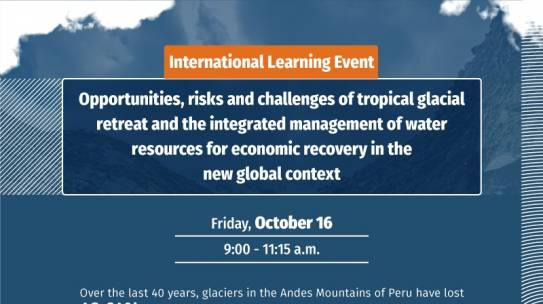 Online Conference on Tropical Glaciers and Water Resource Management under the current global challenges